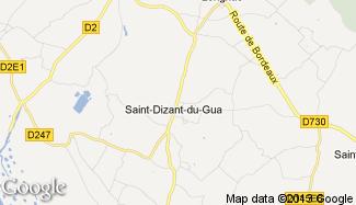 Plan de Saint-Dizant-du-Gua