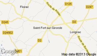 Plan de Saint-Fort-sur-Gironde