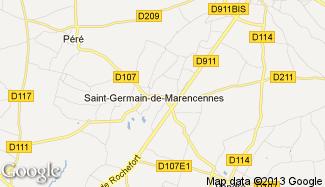 Plan de Saint-Germain-de-Marencennes