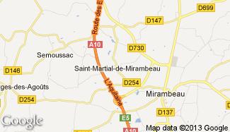 Plan de Saint-Martial-de-Mirambeau