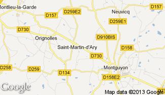Plan de Saint-Martin-d'Ary