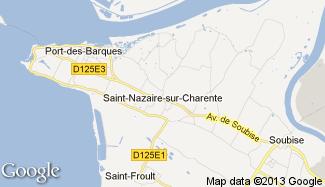 Plan de Saint-Nazaire-sur-Charente