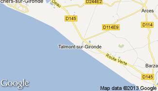Plan de Talmont-sur-Gironde