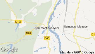 Plan de Apremont-sur-Allier