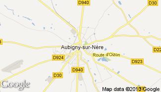 Plan de Aubigny-sur-Nère