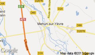 Plan de Mehun-sur-Yèvre