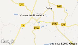 Plan de Ourouer-les-Bourdelins