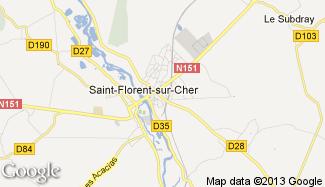 Plan de Saint-Florent-sur-Cher
