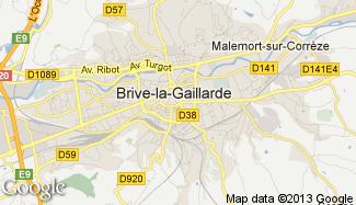 Plan de Brive-la-Gaillarde