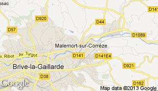 Plan de Malemort-sur-Corrèze