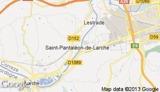 Plan de Saint-Pantaléon-de-Larche