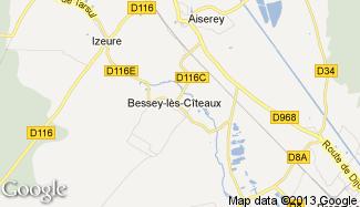 Plan de Bessey-lès-Cîteaux