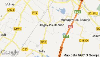 Plan de Bligny-lès-Beaune