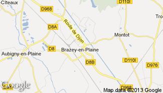 Plan de Brazey-en-Plaine