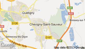 Plan de Chevigny-Saint-Sauveur