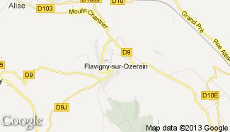 Plan de Flavigny-sur-Ozerain