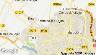 Plan de Fontaine-lès-Dijon