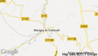 Plan de Marigny-le-Cahouët