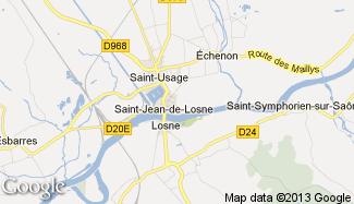 Plan de Saint-Jean-de-Losne