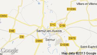 Plan de Semur-en-Auxois