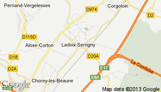 Plan de Ladoix-Serrigny