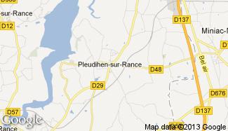 Plan de Pleudihen-sur-Rance