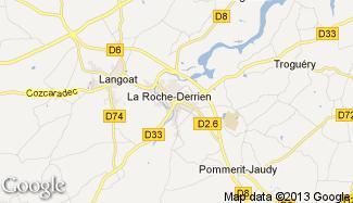 Plan de La Roche-Derrien