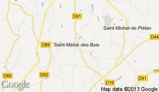 Plan de Saint-Méloir-des-Bois