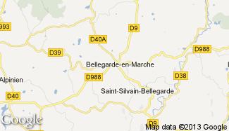 Plan de Bellegarde-en-Marche