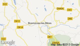 Plan de Bosmoreau-les-Mines