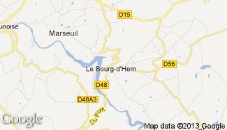 Plan de Le Bourg-d'Hem