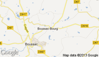 Plan de Boussac-Bourg