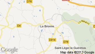 Plan de La Brionne