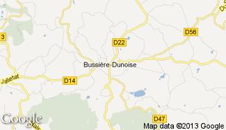 Plan de Bussière-Dunoise