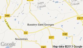 Plan de Bussière-Saint-Georges