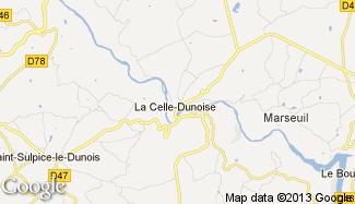 Plan de La Celle-Dunoise