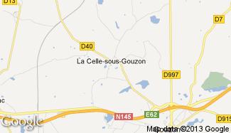 Plan de La Celle-sous-Gouzon