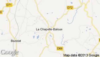 Plan de La Chapelle-Baloue
