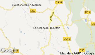Plan de La Chapelle-Taillefert