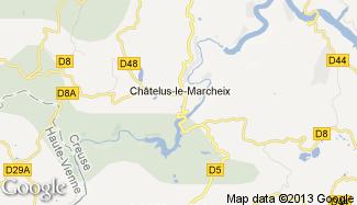 Plan de Châtelus-le-Marcheix