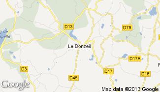 Plan de Le Donzeil