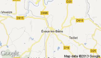 Plan de Évaux-les-Bains