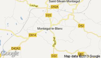 Plan de Montaigut-le-Blanc
