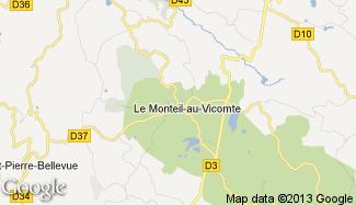Plan de Le Monteil-au-Vicomte