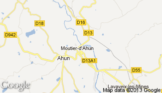 Plan de Moutier-d'Ahun