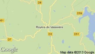 Plan de Royère-de-Vassivière
