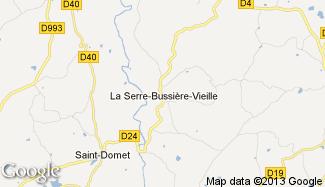 Plan de La Serre-Bussière-Vieille