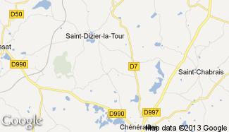 Plan de Saint-Dizier-la-Tour