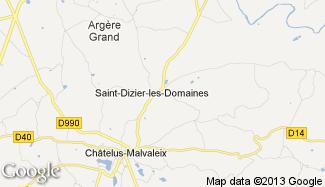 Plan de Saint-Dizier-les-Domaines