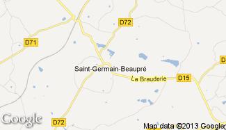 Plan de Saint-Germain-Beaupré